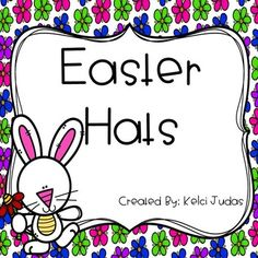 These hats are perfect for when your class is celebrating Easter! This product contains 5 different styles of hats!  3 designs say the phrase 'Happy Easter' and the 2 designs do not have any words on them.  Simply print them out, have the students decorate and cut them out, and then staple them to a strip of construction paper or to a sentence strip!Click the green star at the top of my store page to receive updates on new products and sales!Please leave feedback on this product!