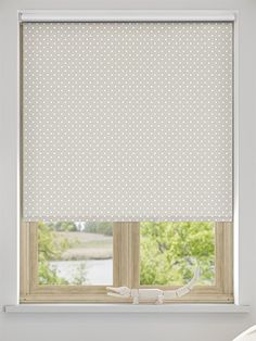 dotty blackout roller blind dunelm mill arthur deary 39 s. Black Bedroom Furniture Sets. Home Design Ideas
