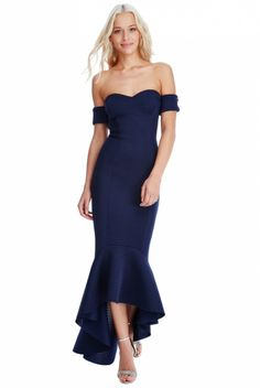 Bardot neckline · Mermaid shape design · Concealed zipper at the back · Textured thick stretchy material · Side seam length from underarm to lowest point is Shape Design, Stretchy Material, Underarm, Ava, Evening Dresses, Fashion Show, Evening Gowns Dresses, Gown Dress, Evening Gowns