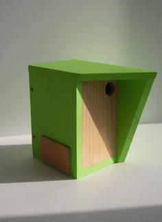 Nichoir Design 2014 - 2015 bois et laque sans vis et sans clou : Accessoires de maison par dominique-mounier