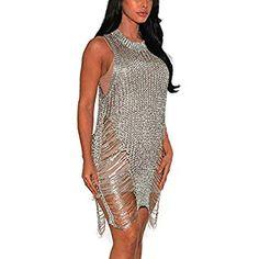 Yidarton Femmes Robe Moulante Sexy Slim à Manches Longues Fendue Bouton  Hiver Robe de Soirée avec cd158535cd16