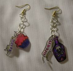 Cute shrinky dink earings
