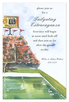 potential tailgate wedding shower invitation