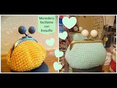 Monedero de ganchillo fácil con forro - Easy crochet purse - Tutorial - YouTube ༺✿Teresa Restegui http://www.pinterest.com/teretegui/✿༻