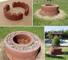 fire pit with tree rings!