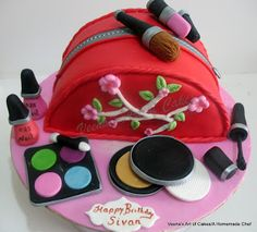 Torta boso de maquillaje. Que lo disfruten! (Make Up Bag Cake. Enjoy!)