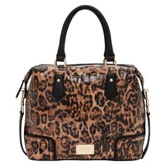 Expensive at $895 but so yummy. I love leopard patent leather. This is an Oroton 1938 barrel bag.