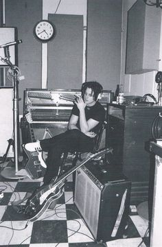 """""""Jack White during the recording of 'Elephant', April 2002"""""""