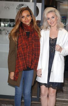Jade Thirwall and Perrie Edwards at BBC 1 Radio this morning. Who listened to  #move ?