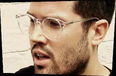 Transparent eyeglass frames for men