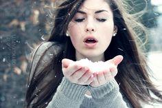 Snow portrait!