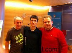 Benjamin Auer (Consultor ambiental y formador, en el centro), @conbici (a su derecha) y José Diego García de @licitacivil (a su izquierda)
