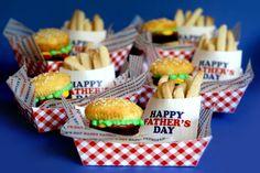 Hamburger Brownie Burger Cupcakes & Cookie Fries by Bakerella, via Flickr