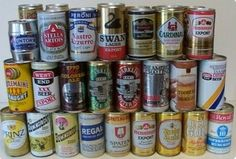 Buy collectible beer cans in lots and sets at discount prices. Beer Can Art, Home Brewing, Jar, Canning, Beer Cans, Food, Craft, Creative Crafts, Essen