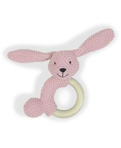 Prenatal Rammelaar Poppy houten ring 0