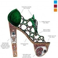 Nick Adelman Celtic Art Learn Art History Through 10 Stunning Pairs Of High Fashion Heels Fashion History, Fashion Art, Trendy Fashion, High Fashion, Fashion Poses, Vogue Fashion, Fashion Editorials, Fashion Jewelry, Shoe Sketches