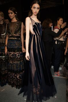 Valentino -- statement black sheer cut-out gown #style #fashion