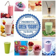 Favorite Smoothie Recipes with Yogurt. All with Weight Watchers Points Plus. http://simple-nourished-living.com/2014/06/smoothie-recipes-yogurt/
