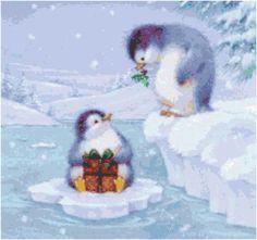 Christmas Penguins Cross Stitch Pattern by SherrysHouse on Etsy, $6.50