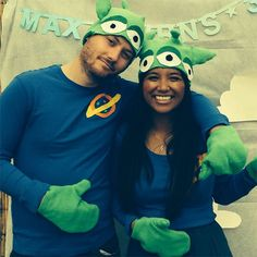 DIY Disney-Pixar Movie Halloween Couples Costumes Costume Ideas  sc 1 st  Pinterest & Toy Story Alien Kostüm selber machen | Halloween | Pinterest | Toy ...