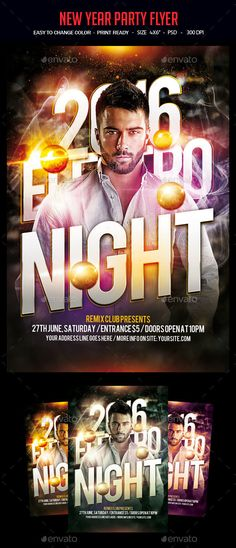New Years Eve Flyer Template  Flyer Template Party Flyer And Psd