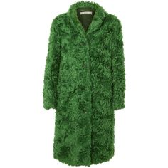 Anna Dello Russo Archive Prada coat ($915) ❤ liked on Polyvore featuring outerwear, coats and green coat