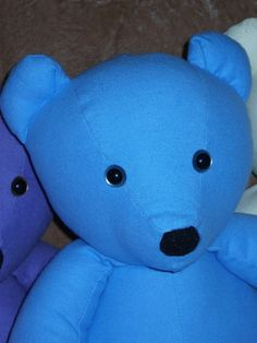 Blue Flannel Teddy Bear