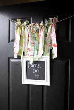 Shabby chic baby shower welcome sign