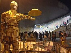 The Umbrella Movement In Hong Kong created by local artist Milk, representing Hong Konger's faith and determination in Democracy