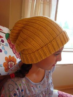 Modern Rib Hat by Susan B. Anderson ~Free Pattern-Think I'll have to learn a little more about knitting before attempting this~