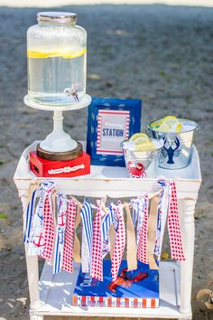 """If there isn't a restroom nearby, a genius hand-washing station will keep guests feeling fresh after they've feasted at the """"crawDAD"""" cookout. 