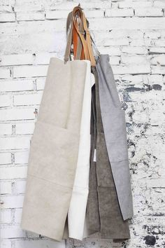 Form meets function in these utilitarian aprons.