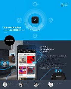 Harman Kardon controller app on Behance