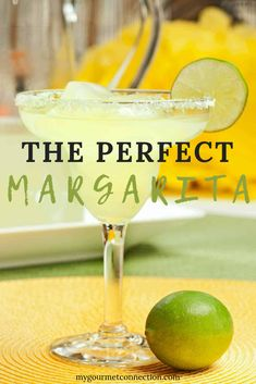 The Perfect Margarita The only margarita recipe you'll ever need! The perfect balance of sweetness and tart lime flavor thanks to the tequila, triple sec, freshly squeezed lime juice and homemade simple syrup! Fresh Margarita Recipe, Perfect Margarita, On The Border Margarita Recipe, Large Batch Margarita Recipe, Cocktail, Recipes, Drink Recipes, Health, Drink