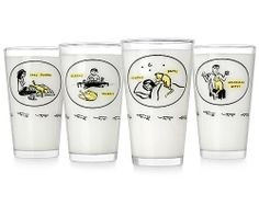 Inconvenient Kitty Tumblers- Set of 4 : Amazon.com : Kitchen & Dining $35.00 + $5.95