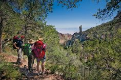 Life returns to Chisos High Country after autumn rains. That makes it primed for beautiful and challenging hikes and views, like this one on the Boot Canyon Trail.