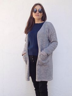 Knit cardigan coat ,womans knitted reversible jaquete