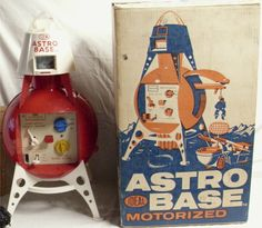 IDEAL: 1960s Motorized Astro Base #Vintage #Toys