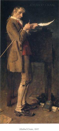 """Norman Rockwell """"Ichabod Crane"""" (1937)"""