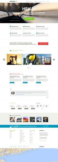 Joomla Theme , Industrial Template