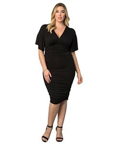 Rumor has it that you're going to be dressed to kill in this figure-hugging dress made of soft jersey fabric. Feel sassy and chic with a curve-conscious skirt that's doubled and ruched throughout for ...