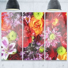Colorful Flowers Background - Floral Glossy