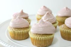 Meyer Lemon Raspberry Cupcakes, gluten-free & dairy-free | In Johnna'...