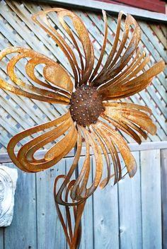 metal garden flowers