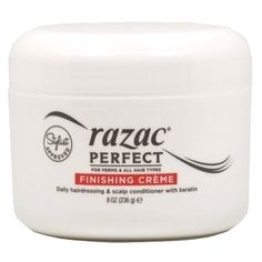 Razac Perfect for Perms Finishing Creme 8 oz $6.95 Visit www.BarberSalon.com One stop shopping for Professional Barber Supplies, Salon Supplies, Hair & Wigs, Professional Product. GUARANTEE LOW PRICES!!! #barbersupply #barbersupplies #salonsupply #salonsupplies #beautysupply #beautysupplies #barber #salon #hair #wig #deals #sales #Razac #Perfectfor #Perms #Finishing #Creme
