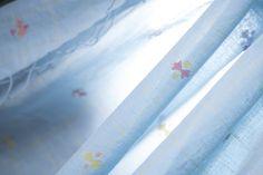 A diaphanous and delicate sky blue sari from Ssaha #sari #india #khadi #jamdani #parisera