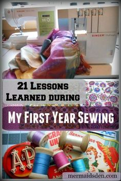 21 Lessons learned during my first year sewing: tips and tricks for beginners