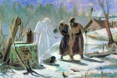 Melting Snow Maiden. Sketch - Vasily Perov