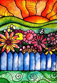 Colorful flower art