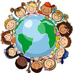bambini intorno alla terra